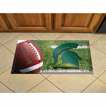 Michigan State University Mat - Spartan Football Scraper Mat 19'' x 30''