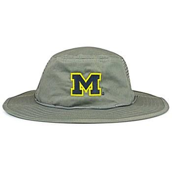 University of Michigan Hat - Wolverines Gray Boonie