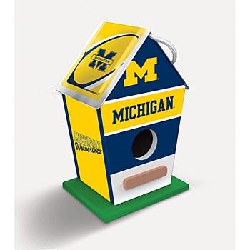 University of Michigan Birdhouse 8'' x 5'' x 4''