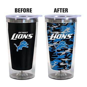 Detroit Lions Color Changing 16oz Travel Mug