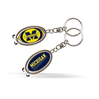 University of Michigan Keychain Metal Spinner