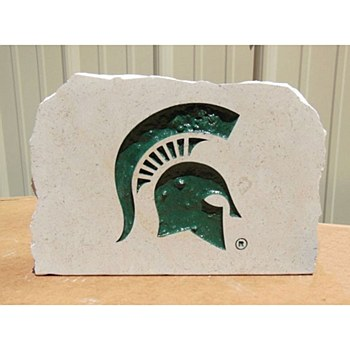 Michigan State University 9in Spartans Engraved Porch Stone