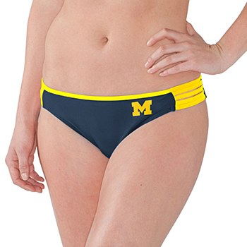 University of Michigan ''Outfielder'' Bikini Bottom Navy XL
