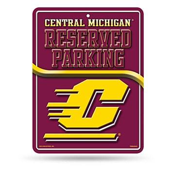 Central Michigan University Sign Metal Parking Sign