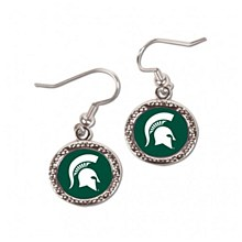 Michigan State University Earrings Round Spartan