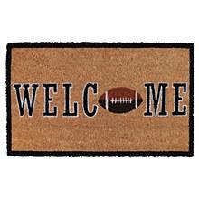 Welcome Football 18 in. x 30 in. Natural Coir Door Mat