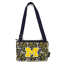 University of Michigan Purse Cross Body Bloom, Quilted Bag