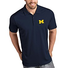 University of Michigan Wolverines Mens Antigua Tribute Polo - Navy Small