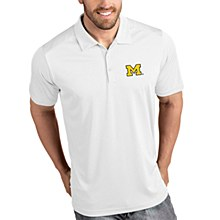 University of Michigan Wolverines Mens Antigua Tribute Polo - White Medium