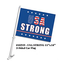 USA Strong Car Flag