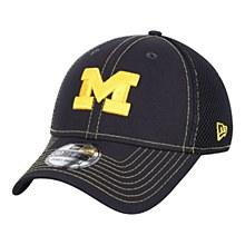 Michigan Wolverines New Era Team Front Logo Neo 39THIRTY Flex Hat Navy