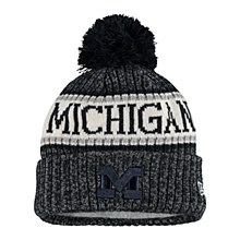 Mich Sport Knit Hat Navy-White
