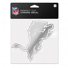 Detroit Lions Decal - Perfect Cut Chrome 6'' x 6''