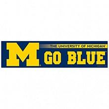 "University of Michigan Bumper Strip 3"" x 12"""