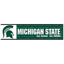 Michigan State University Decal - Bumper Strip 3'' x 12''