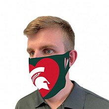 MIchigan State University Mask Face Cover Red Heart
