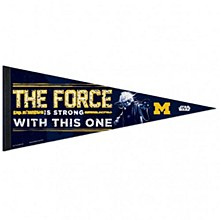 University of Michigan Pennant Yoda 12'' x 30''