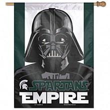 "Michigan State University Banner Flag Star Wars Vertical Darth Vader 28"" x 40"""