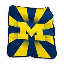University of Michigan Blanket - Raschel Throw