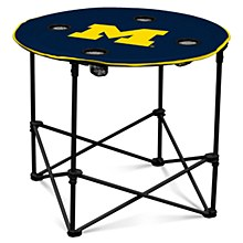 University of Michigan Table - M Logo Round