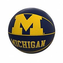 University of Michigan Full-Size Rubber Basketball