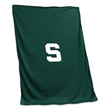 Michigan State University Blanket Sweatshirt Blanket Tackle Twill