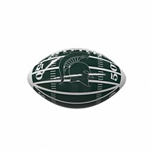 Michigan State University Mini Glossy Green & White Football