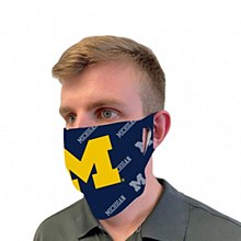 "University of Michigan ""M"" Mask Face Cover"