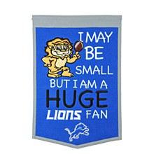 Detroit Lions Banner - Lil Fan Traditions 12'' x 18''