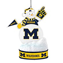 University of Michigan Ornament - LED Snowman