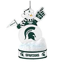 Michigan State University Ornament - Spartans LED Snowman
