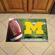 University of Michigan Mat - Football Mat 19'' x 30''