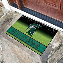 Michigan State University Mat - Spartans Welcome Door Mat 18'' x 30''