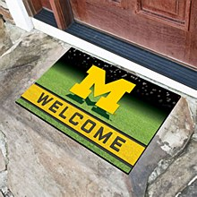 "University of Michigan Mat - ""M"" Welcome Door Mat 18'' x 30''"