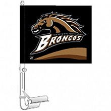 Western Michigan University Car Flag 11.75'' x 14''