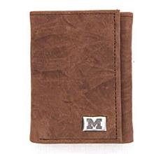 University of Michigan Walet  Brown Tri Fold Leather
