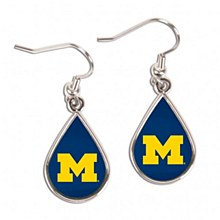 University of Michigan Earrings Tear Drop