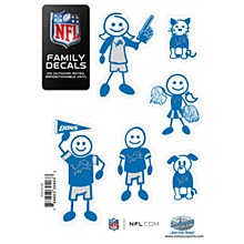 Detroit Lions Decal Small Family Set