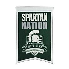 Michigan State University Banner - Spartan Nation 22'' x 14''
