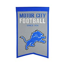 Detroit Lions Banner -  Franchise Banner 14'' x 22''