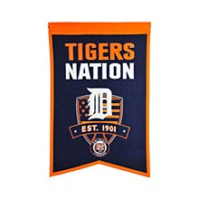 Detroit Tigers Banner - Tigers Nations 22'' x 14''