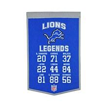 Detroit Lions Banner - Lions Legends 14'' x 22''