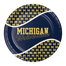 University of Michigan Plate - 9'' Dinner 8pk