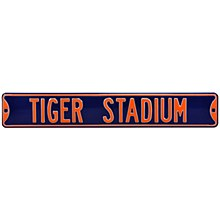 Detroit Tigers Sign - Tigers Stadium Steel Sign 6''x36''