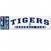 """Detroit Tigers Decal Perfect Cut Arched 3"""" x 10"""""""