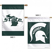 "Michigan State University Banner Flag 2 Sided 28"" x 40"""