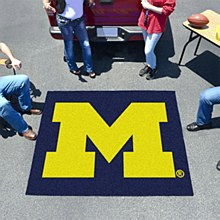 "University of Michigan Rug - Tailgater ""M"" Logo Rug 5' x 6'"
