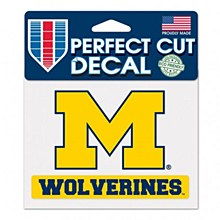 "University of Michigan Decal Perfect Cut Wolverines 4.5"" x 5.75"""