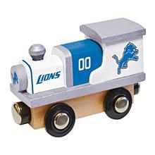 Detroit Lions Toy Wood Train Engine