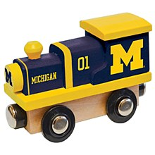University of Michigan Toy Wood Train Engine